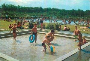 Postcard Netherlands hazendal ede swimming pool children baby kids summer