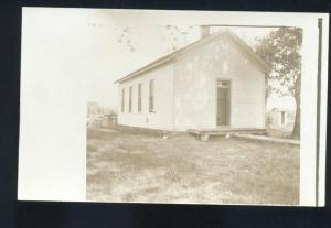 RPPC PRATT KANSAS CHURCH BUILDING VINTAGE REAL PHOTO POSTCARD 1910