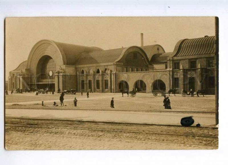 235438 Finland HELSINKI Railway Station Vintage photo postcard