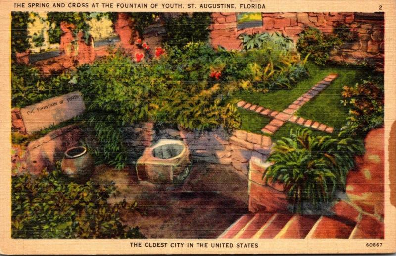 Florida St Augustine Fountain Of Youth The Spring and Cross