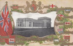 NIAGARA FALLS , Ontario , 1910 ; Flags ; Electrical Power Plant