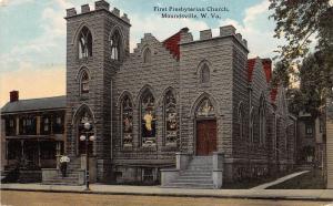 D84/ Moundsville West Virginia WV Postcard 1914 First Presbyterian Church