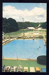 Moodus, Connecticut/CT/Conn Postcard, Frank Davis Resort, Swimming Pool