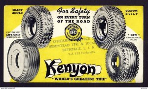 Bethpage, L.I. N.Y. USA - Kenyon world's greatest tires For Safety on every