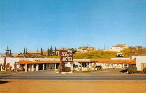 Globe Arizona birds eye view El Ray Motel entrance vintage pc Y14728
