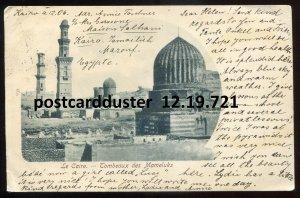 721 - EGYPT Cairo Postcard 1906 Mameluk Tombs