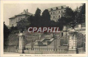 Old Postcard Entree Rennes Tabor Paris street and Lycee for Girls