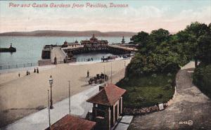DUNOON (Scotland), UK, PU-1908; Pier And Castle Gardens From Pavilion