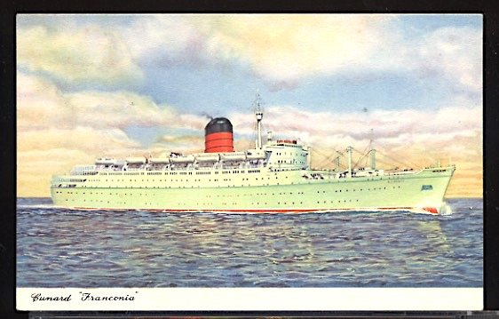 Cunard Line RMS Franconia Ocean Liner Postcard