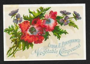 VICTORIAN TRADE CARDS (6) Lydia Pinkham's Vegetable Compound