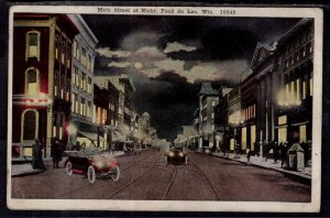 Main Street at Night,Fonddu Lac,WI BIN