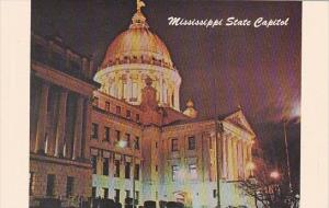 Mississippi Jackson Mississippi State Capitol At Night