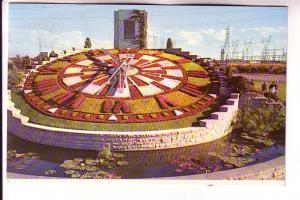 Closeup Ontario Hydro's Floral Clock Between Queenston and Niagara Falls Onta...