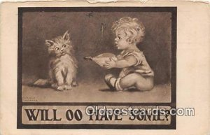 Will OO Have Some Artist Katherine Gassaway Baby Bottle 1909