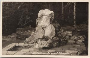 Pauline Johnson Monument Stanley Park Vancouver BC Gowen Sutton RPPC Postcard F1