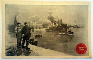 5 VINTAGE POSTCARDS RED STAR LINE - ANTWERPEN - 1920. UNUSED!!!