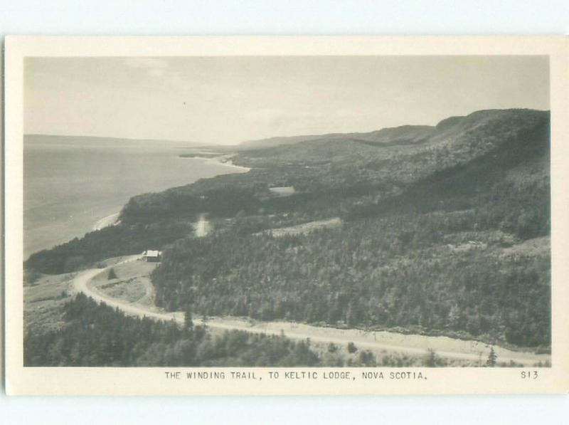 old rppc NICE VIEW Ingonish On Cape Bretton Island Nova Scotia NS W0863