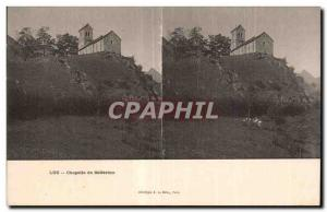 Stereoscopic Card - Chapel of Solferino - Old Postcard