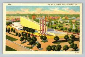 1939 New York World's Fair - The Hall of Fashion - Linen Postcard