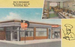 GREENFIELD , Massachusetts, 1930-40s ; Bill's Restaurant