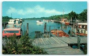 Postcard DE Rehoboth Beach Henlopen Yacht Basin Henlopen Acres D10