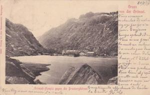 Grimsel-Hospiz Gegen Die Brunberghorner, Gruss Von Der Grimsel, Switzerland, ...