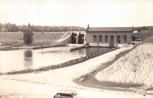 Tawas City Michigan~Five Channels Dam & Power House on Au Sable~1930s RPPC
