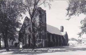 Wisconsin Bloomer St Johns Lutheran Church Real Photo