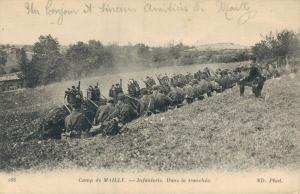 Military - Camp de Mailly Infanterie Dans la Tranchee World War 1 01.75