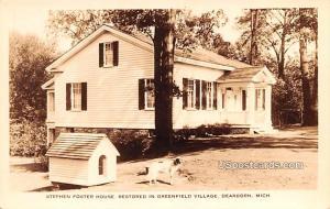 Stephen Foster Cottage Dearborn MI Unused
