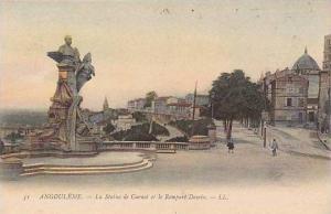 France Angouleme La Statue de Carnot et le Rempart Desaix