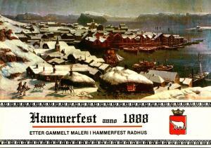 Norway Hammerfest 1888 Painting