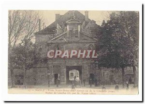 Old Postcard Nancy Porte Notre Dame fields or the Citadel (1590) statue of Ch...