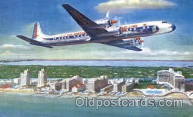 Eastern Airlines Golden Falcon (DC-7B) Airplane, Airport Post Card, Post Card...