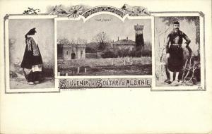 albania, SHKODRA SHKODER SCUTARI, Multiview, Tour Paget, Costumes (1899)