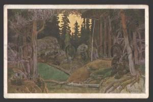 111569 MAGIC Forest OPERA by BILIBIN vintage ART NOUVEAU Rus