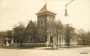 1912 Methodist Episcopal ME Church OTTAWA KANSAS Franklin Real Photo RPPC 4382