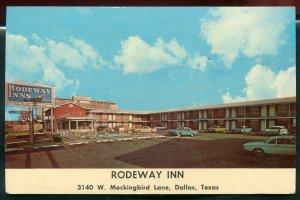 Rodeway Inn 3140 W Mockingbird Lane Dallas Texas old postcard