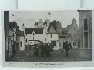 RP Postcard The Square of Old Scottish Village National Exhibition Glagow 1911