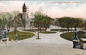 New York Albany View From Capitol Approach 1908