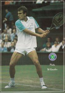 Mats Wilander Swedish Wimbledon Lawn Museum Tennis Event Championship Postcard