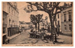 Acores Island  Praca da Republica  Ponta  Delgada Square