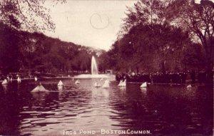 FROG POND, BOSTON COMMON, MA. 1913
