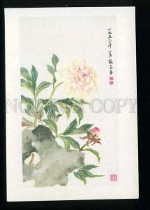 208711 CHINA Zhang Da-Zhuang peony old postcard