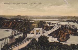 Canada St John Reversing falls and Bridges 1914