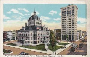 Kentucky Lexington Fayette County Courthouse And Fayette National Bank Building