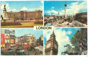 UK, London, multi view, used Postcard