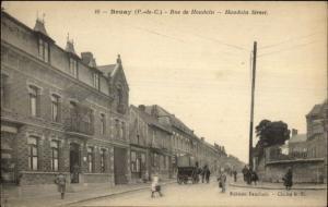 Bruay France Rue de Houdain c1915 Postcard