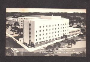 MO St Joseph Hospital Sisters of St Mary Nuns St Charles Missouri Postcard