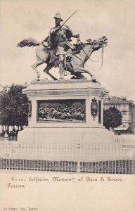 Italy Torino Monumento Duca di Genova